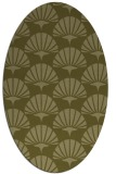 rug #191989 | oval light-green rug