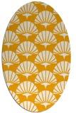 rug #191993 | oval light-orange retro rug
