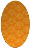 rug #192001 | oval light-orange graphic rug