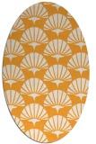rug #192005 | oval light-orange graphic rug