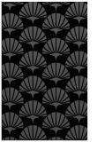 rug #192017 |  black retro rug