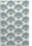 rug #192033 |  blue-green retro rug