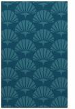 rug #192057 |  blue-green retro rug