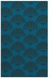 rug #192089 |  blue-green retro rug
