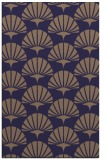 rug #192117    blue-violet retro rug