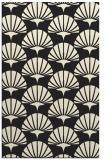 rug #192317    black graphic rug