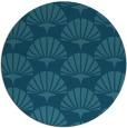 rug #192409   round blue-green popular rug