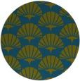rug #192421 | round green graphic rug