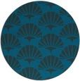 rug #192441 | round blue-green retro rug