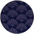 rug #192445   round blue-violet retro rug