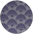 rug #192449 | round blue-violet retro rug