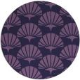rug #192457   round blue-violet retro rug