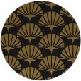 rug #192477   round black retro rug