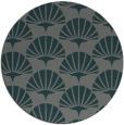 rug #192489 | round green graphic rug