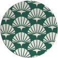 rug #192493 | round green graphic rug
