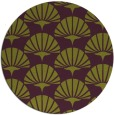 rug #192589 | round green graphic rug