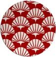 rug #192601 | round red retro rug