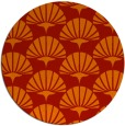 rug #192605 | round red graphic rug