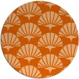 rug #192621 | round red-orange graphic rug