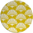rug #192661 | round yellow retro rug