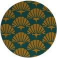rug #192667 | round retro rug