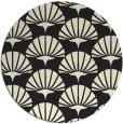 rug #192669 | round black graphic rug
