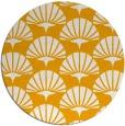 rug #192697 | round light-orange graphic rug