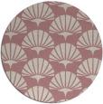 rug #192701 | round pink graphic rug