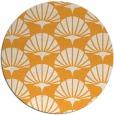 rug #192709 | round light-orange retro rug
