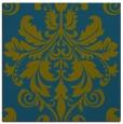 rug #193125 | square blue-green damask rug