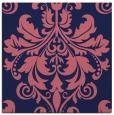 rug #193157   square blue-violet damask rug