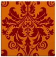 rug #193253 | square orange damask rug
