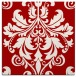 rug #193305 | square red traditional rug
