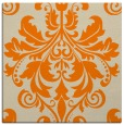 rug #193381 | square orange damask rug