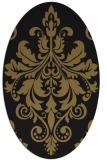rug #193437   oval brown damask rug