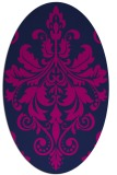rug #193445 | oval blue traditional rug