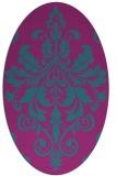 rug #193482 | oval damask rug