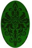 rug #193485 | oval green traditional rug