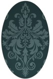 rug #193490 | oval damask rug