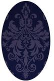 rug #193501 | oval blue-violet popular rug