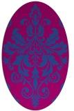 rug #193520 | oval damask rug