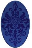 rug #193521   oval blue-violet rug