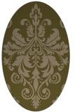 rug #193537 | oval brown damask rug