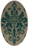 rug #193540 | oval damask rug