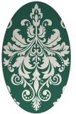 rug #193549 | oval green damask rug