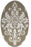 rug #193557   oval white rug