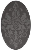 rug #193565 | oval mid-brown rug