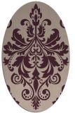 rug #193573   oval pink damask rug