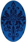 rug #193585 | oval blue damask rug