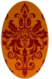 rug #193605 | oval red-orange damask rug
